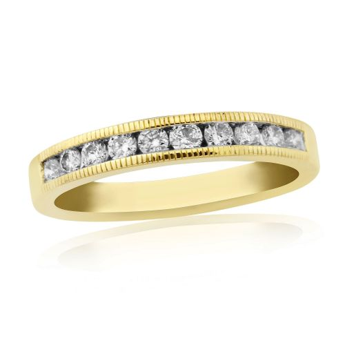 Yellow Gold Diamond Channel Set | Eternity Ring | DR1307